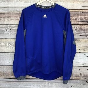 Adidas Long Sleeve Pullover Mens Small Blue 0647
